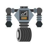 dużego robota analityka ekranu futurystyczny koło ilustracji