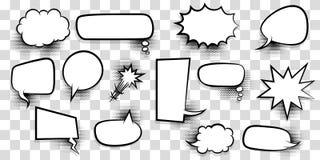 Dużego setu mowy bąbla komiczki pusty tekst Zdjęcie Stock