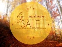 Dużej jesieni sprzedaży konceptualna kreatywnie ilustracja Zdjęcie Royalty Free