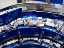 Dużej precyzi części stalowa automobilowa produkcja CNC machina Zdjęcia Stock