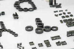 Dużej precyzi części stalowa automobilowa produkcja CNC machina Fotografia Royalty Free