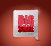 Dużej sprzedaży biznesu komunikacyjny znak Zdjęcie Stock