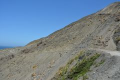 Dużej Sura centrali wybrzeża Kalifornia wspaniałej linii brzegowej zatoczki borowinowy obruszenie Obraz Stock