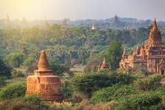 Dużo świątynie Bagan w Myanmar Zdjęcia Stock