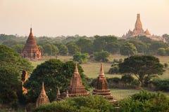 Dużo świątynie Bagan w Myanmar Obrazy Royalty Free