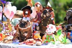 Dużo brogują kolorowe handmade zabawki Fotografia Royalty Free