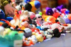 Dużo brogują kolorowe handmade zabawki Zdjęcie Royalty Free