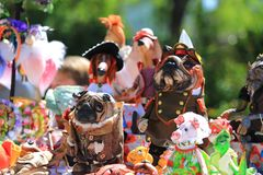 Dużo brogują kolorowe handmade zabawki Obrazy Royalty Free