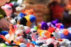 Dużo brogują kolorowe handmade zabawki Obraz Stock