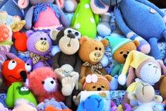 Dużo brogują kolorowe handmade zabawki Obrazy Stock