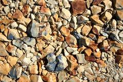 Dużo kolor żółty, czarny i biały kamienia tło Zdjęcia Stock