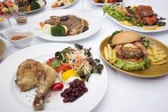 Dużo Międzynarodowy jedzenie Zdjęcie Stock
