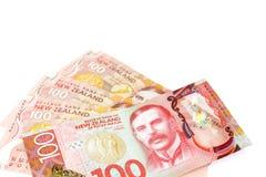 Dużo sto Nowa Zelandia dallar banknotów jako pieniądze backgr Obraz Stock