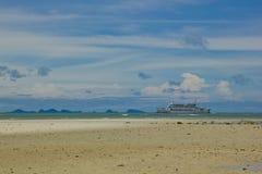 duży łódkowaty morze obrazy stock