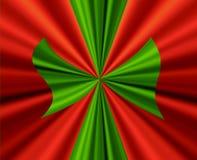 duży łęku zieleni czerwień ilustracji