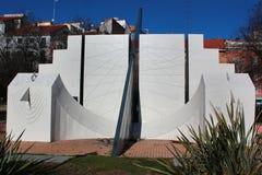 Duży ścisły słońce zegar w Madryt, Hiszpania zdjęcia stock