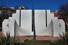 Duży ścisły słońce zegar w Madryt, Hiszpania obraz stock