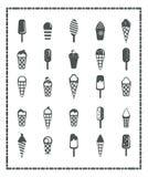 duży śmietanki lodu ikony ustawiają wektor dwanaście Zdjęcia Royalty Free