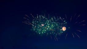 Duży świętowanie z fajerwerkami zbiory