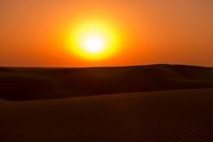 Zmierzch w pustyni Zdjęcie Royalty Free