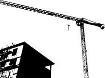 Duży żuraw na bielu fotografia stock