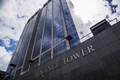 Duży administracyjny budynek w Bruksela, Belgia 06 26 2016 instytucja finansowa Redakcyjny use tylko wysoki wierza w sercu fotografia royalty free