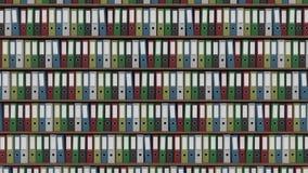 Duży archiwum pełno barwioni biurowi segregatory, CGI Zdjęcia Royalty Free