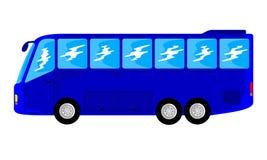 Duży błękitny autobus zdjęcia royalty free