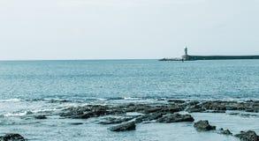 Duży błękitny morze śródziemnomorskie Obraz Stock