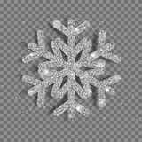 Duży błyszczący Bożenarodzeniowy płatek śniegu ilustracja wektor
