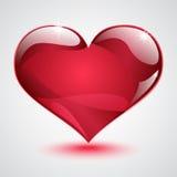 Duży błyszczący czerwony serce Obrazy Stock