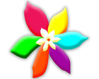 Duży Barwiony kwiat Tło wally Fotografia Royalty Free