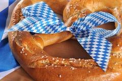 Duży Bawarski Oktoberfest miękki precel obrazy stock
