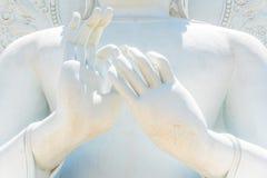 Duży Biały Buddha wizerunek w Saraburi, Tajlandia Fotografia Royalty Free