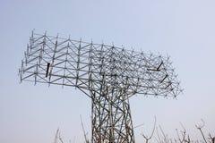 duży billboardu pustego miejsca błękit nad niebem Obraz Stock