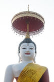 Duży Buddha na białym tle zdjęcia royalty free