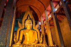 Duży Buddha od mosiądza w Awattonson świątyni Obraz Royalty Free