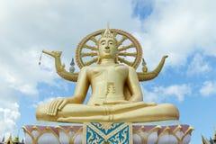 Duży Buddha w Wata Phra Yai świątyni, Koh Samui wyspa Obrazy Royalty Free