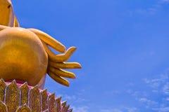 duży Buddha złoty Thailand Obrazy Royalty Free