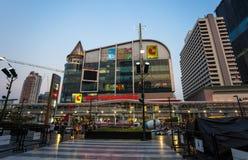 Duży C Supercenter centrum handlowego budynek lokalizuje przy Rachdamri drogi gałąź w Bangkok, Tajlandia Ja jest jeden wielki zak obrazy stock