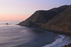 duży California centrali wybrzeża Monterey sur Zdjęcia Stock