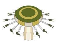 Duży carousel Wektorowa płaska ilustracja ilustracji