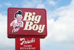 duży chłopiec frisch s znak Fotografia Royalty Free