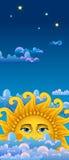 duży chmur złocisty gorący słońce Fotografia Royalty Free
