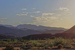 Duży chyłu park narodowy - zmierzch zdjęcie stock