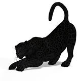 duży czarny kota jaguar Zdjęcie Stock