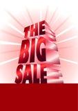 duży czerwona sprzedaż Zdjęcie Royalty Free