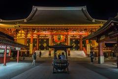 Duży czerwony lampion przy Senso-ji świątynią obrazy royalty free