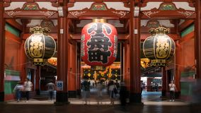 Duży czerwony lampion Sensoji Asakusa świątynia w Tokio, Japonia fotografia royalty free