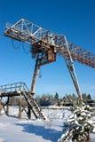 duży dźwigowy przemysłowy obraz stock